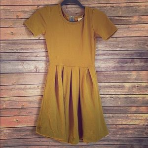 Fit and flair dress with pockets.